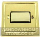 Trimline Plate Polished Brass Fan Isolator Switches